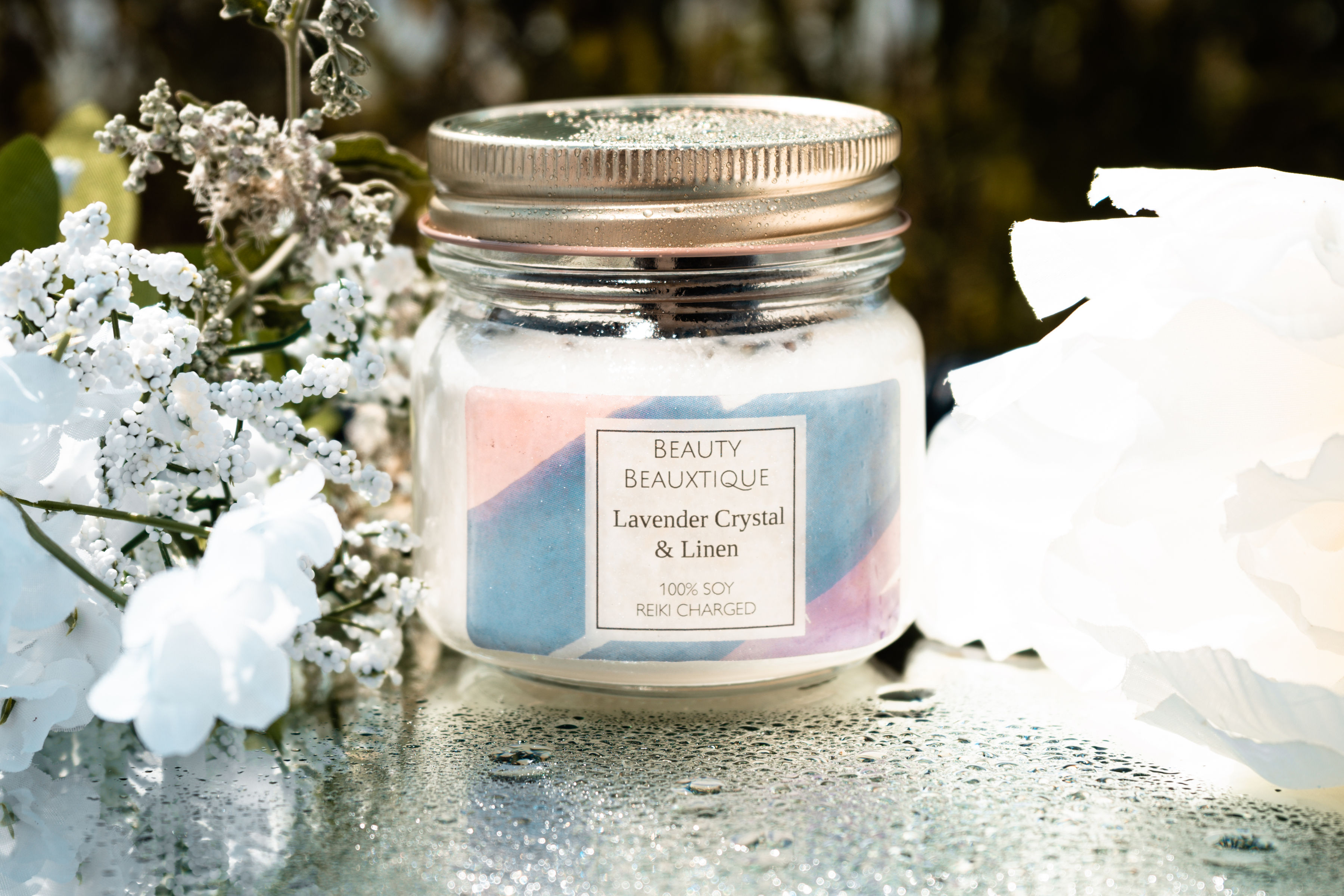 8 oz Lavender and Linen Candle
