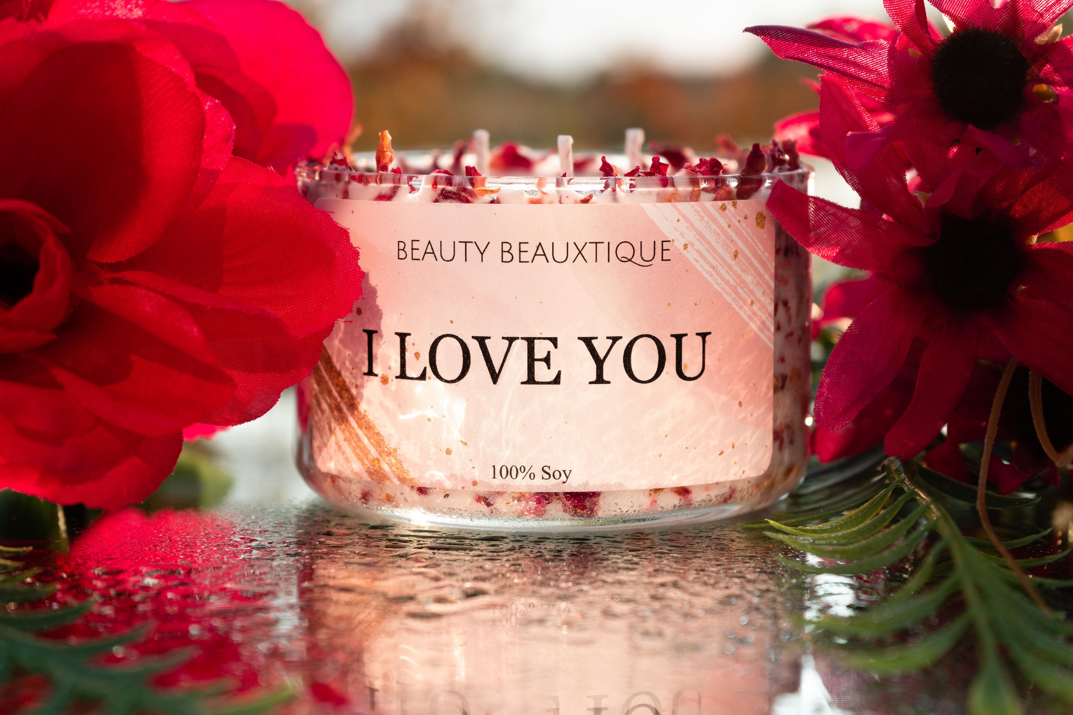 14 oz I Love You Candle