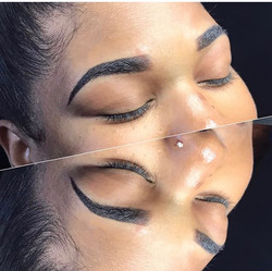 Ombré Powdered brows