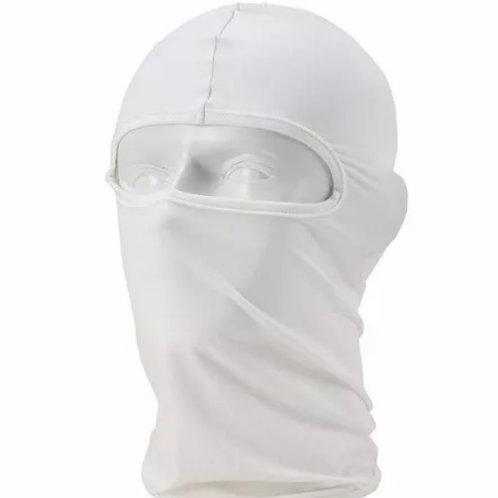 Touca Ninja Branca Balaclava para Motociclista
