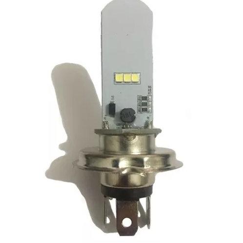 Lampada Farol Led H4 - Efeito Xenon - Alto e Baixo (Corrente Alternada)