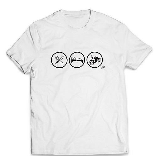 Camiseta - Comer, Dormir e Moto