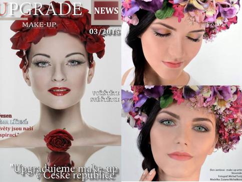 Fotili a líčili sme pre časopis Upgrade makeup Czech Republic.