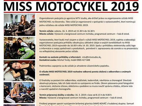 POZVÁNKA - MISS MOTOCYKEL 2019