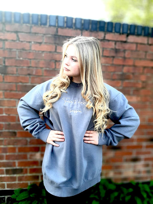 Grey - Oversized Lounge Sweater - Train to Make it Happen