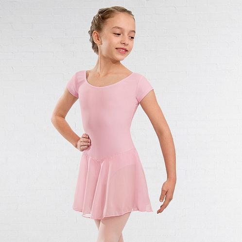 CHILD SMALL - NATD Class / Preliminary/Grade Cap Sleeved Pink Leotard