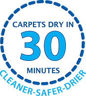 Carpets dry in 30 minutes logoE.png