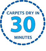 Carpets Dry in 30 Minutes Logo