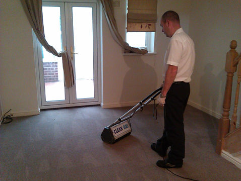 Clean-Dri carpet cleaning stage 2