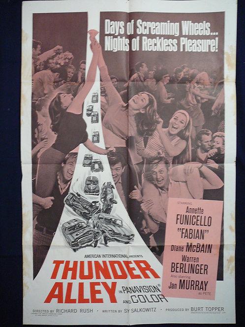 Thunder Alley (1967) Vintage Movie Poster