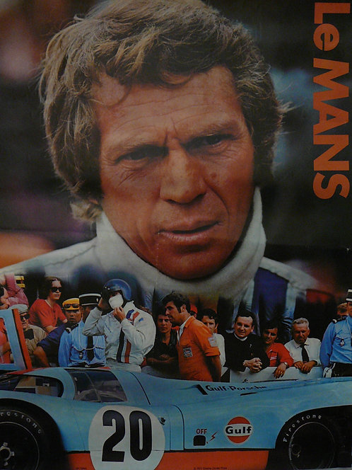 Le Mans (1971) Vintage Movie Poster