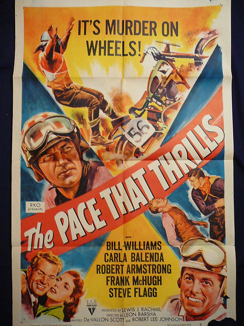 The Pace that Thrills (1952) Vintage Movie Poster