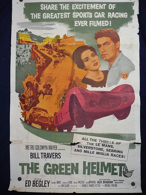 The Green Helmet (1961) Vintage Movie Poster