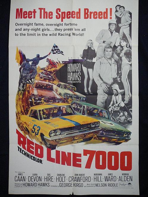 Red Line 7000 (1965) Vintage Movie Poster