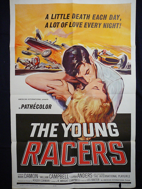 The Young Racers (1963) Vintage Movie Poster