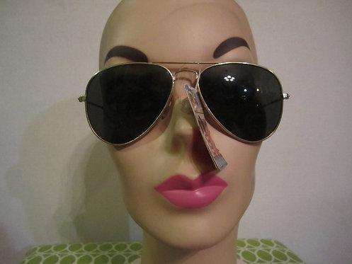 Three Pairs of Round & Aviator 1980s Sunglasses
