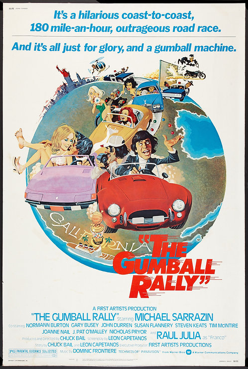 Gumball Rally (1976) Vintage Movie Poster
