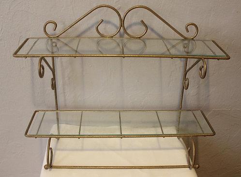 Wrought Iron Display Shelf