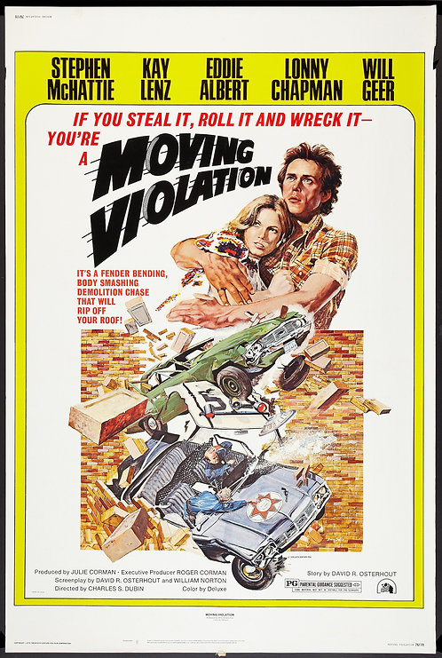 Moving Violations (1985) Vintage Movie Poster