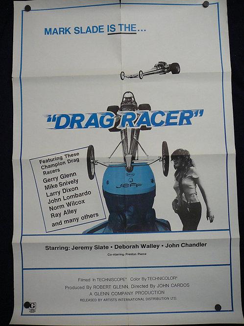 Drag Racer (1971) Vintage Movie Poster
