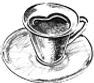 セルクルのカフェ