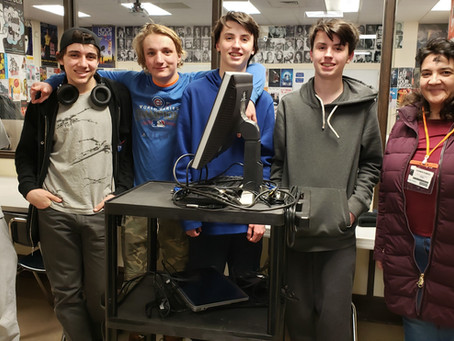 Evanston YTC donates computers to Still Point Theatre Collective