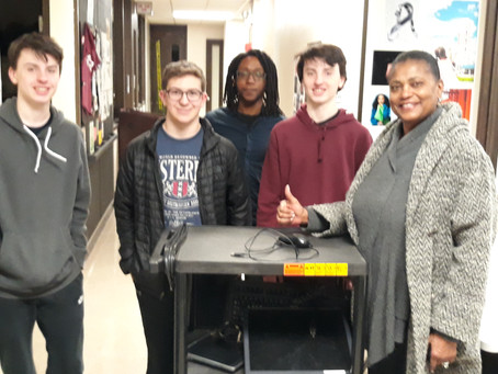 ETHS YTC Students Donate Computers to a Daycare Center