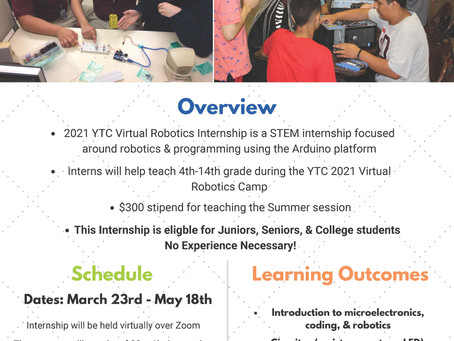 YTC Student Teacher Robotics starts March 23