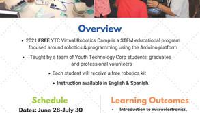 Applications for YTC Free Robotics Camp