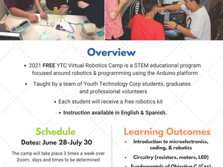 Applications for YTC Free Robotics Camp