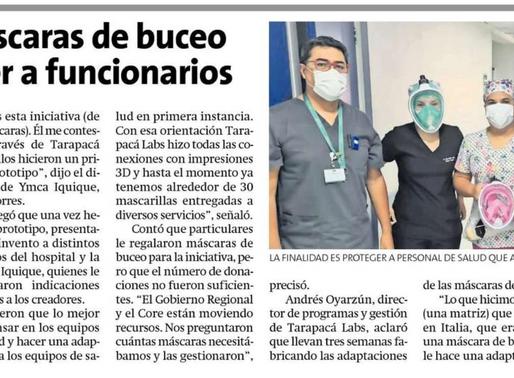 YMCA participa de proyecto para adaptar máscaras de buceo como mascarillas