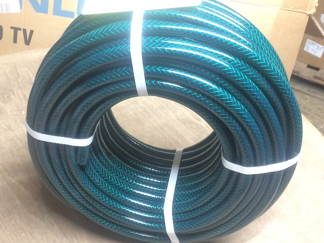 Garden Hose 50 m Polyester fibre reinforced 3 ply -Green