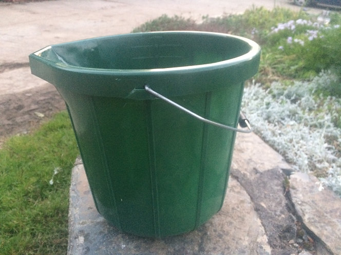 Bucket 2 gallon green HD ideal for garden use or on the allotment