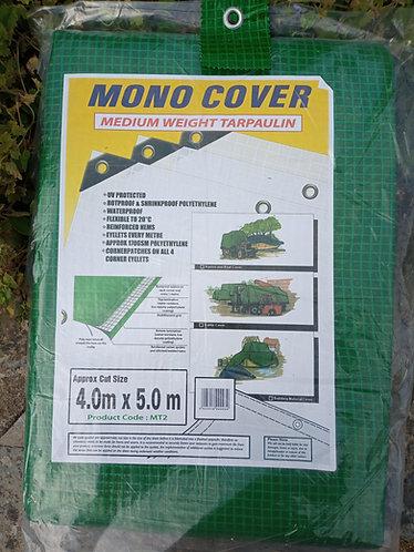 Tarpaulin  4.0m X 5.0 m Green Heavy Duty