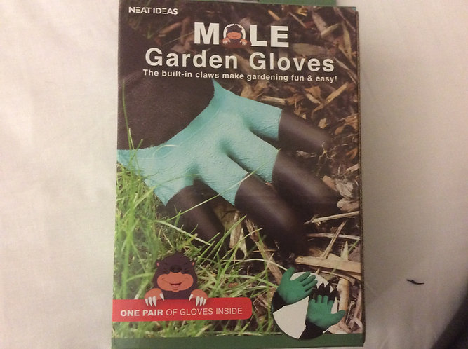 Mole garden gloves with claws one pair