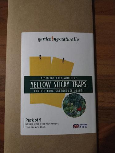 Yellow Sticky Traps pk of 5
