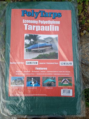 Economy 5.4m X 7.0 m green Tarpaulin