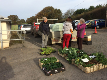 Last day of market trading for the year, Hatherleigh Devon