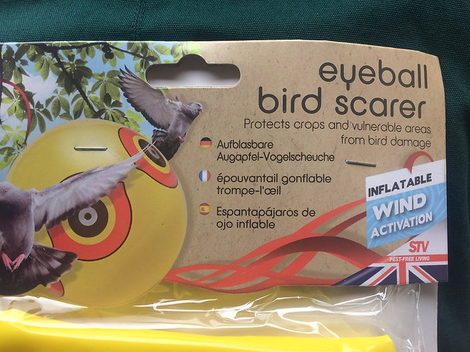 Bird Scarer- wind operated inflatable eye ball design deters pidgeons and birds