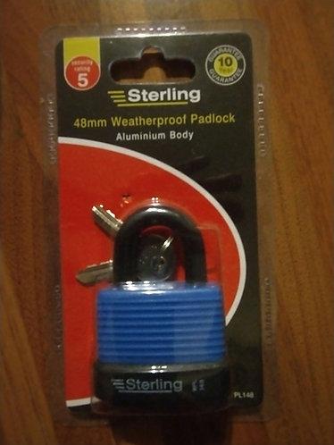 Weatherproof Sterling  48 mm Padlock