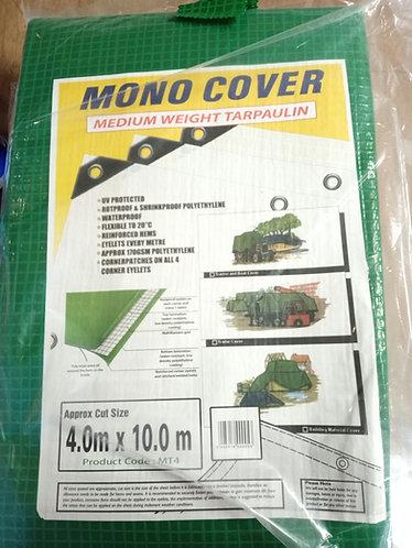 Tarpaulin  4.0m X 10.0 m Green Heavy Duty