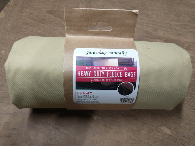 Heavy-duty Fleece Bags frost protection for tropical plants.
