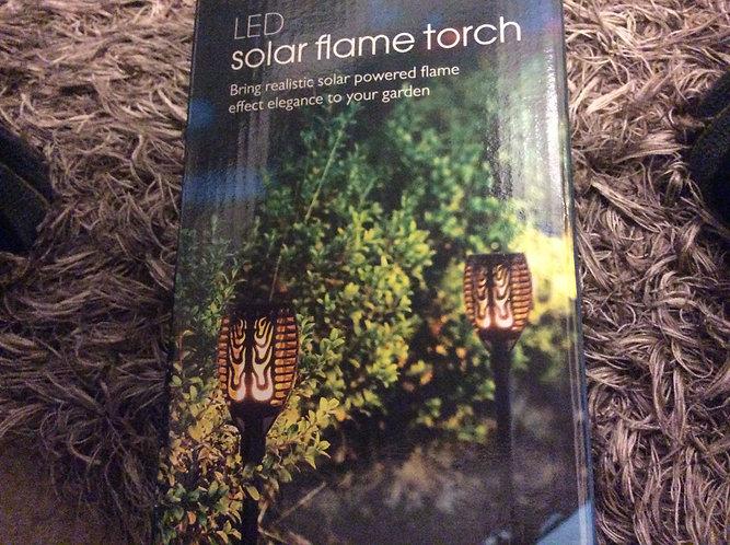 Led solar flame garden  lantern light pack of 1