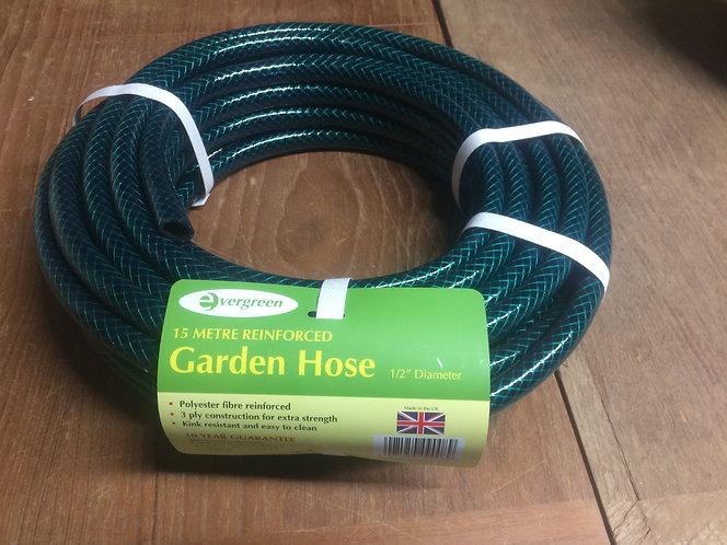 Garden Hose 15m Polyester fibre reinforced 3 ply -Green