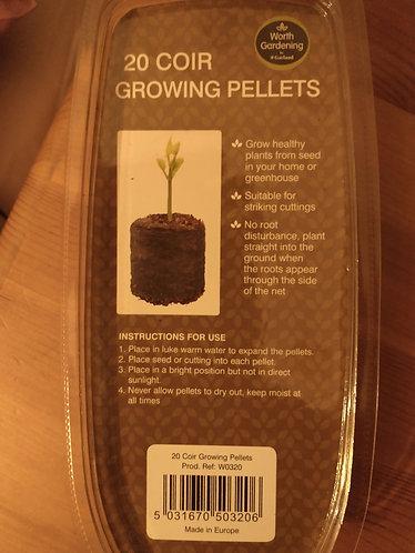 20 Coir Growing Pellets