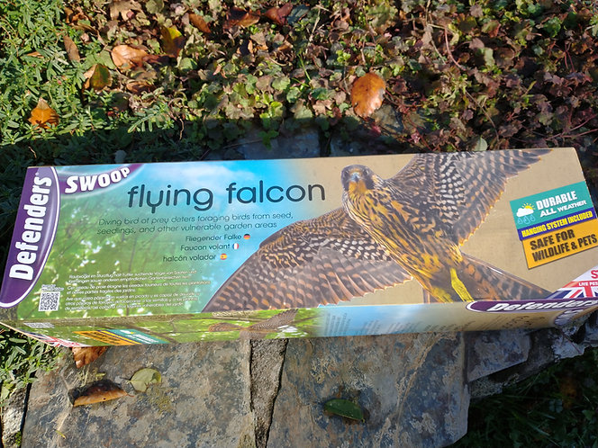 """Bird Scarer Falcon large and realistic decoy 21 """" wings - pest control"""