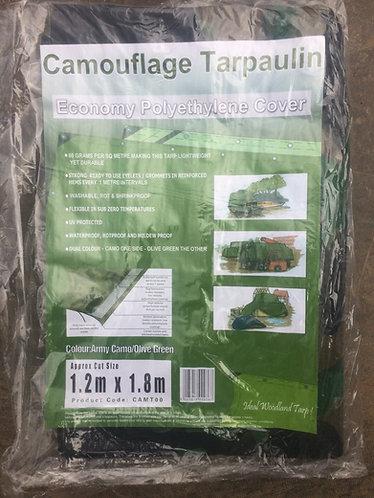 Tarpaulin Camouflage Garden Basha Tarpaulin 2.4 m x 3.0 m  durable and l