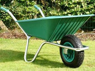 Green Poly Wheel Barrow - the ultimate driving machine