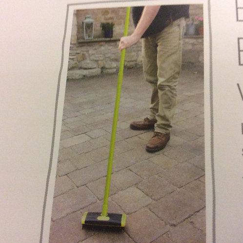 Block paving brush set with telescpic handle
