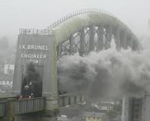 Brunel train bridge Devon side